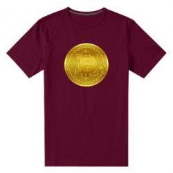 Чоловіча стрейчева футболка Bitcoin coin