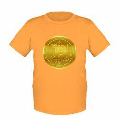Дитяча футболка Bitcoin coin