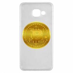 Чохол для Samsung A3 2016 Bitcoin coin