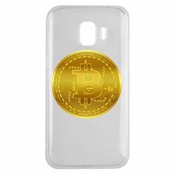 Чохол для Samsung J2 2018 Bitcoin coin