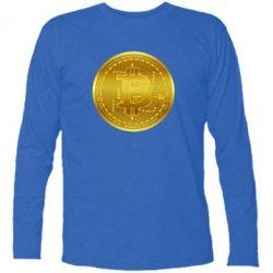 Футболка з довгим рукавом Bitcoin coin