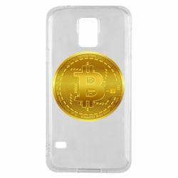 Чохол для Samsung S5 Bitcoin coin