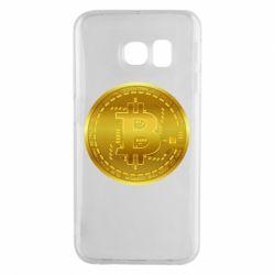 Чохол для Samsung S6 EDGE Bitcoin coin