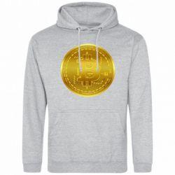 Чоловіча толстовка Bitcoin coin