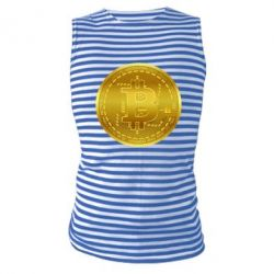 Майка-тільняшка Bitcoin coin