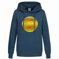 Толстовка жіноча Bitcoin coin