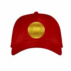 Дитяча кепка Bitcoin coin