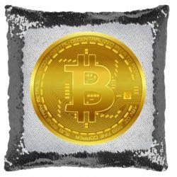 Подушка-хамелеон Bitcoin coin