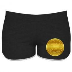 Жіночі шорти Bitcoin coin