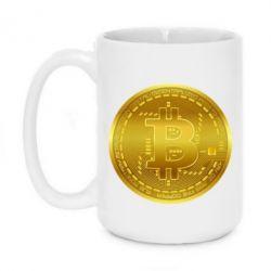 Кружка 420ml Bitcoin coin