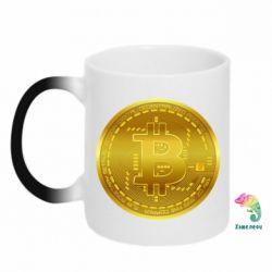 Кружка-хамелеон Bitcoin coin