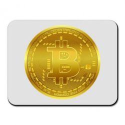 Килимок для миші Bitcoin coin