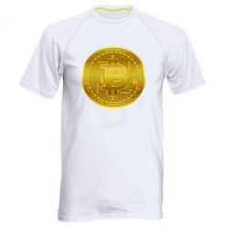Чоловіча спортивна футболка Bitcoin coin