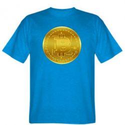 Чоловіча футболка Bitcoin coin
