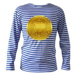 Тільник з довгим рукавом Bitcoin coin