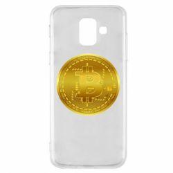 Чохол для Samsung A6 2018 Bitcoin coin
