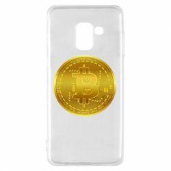 Чохол для Samsung A8 2018 Bitcoin coin
