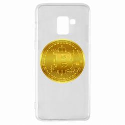 Чохол для Samsung A8+ 2018 Bitcoin coin