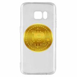 Чохол для Samsung S7 Bitcoin coin