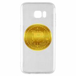 Чохол для Samsung S7 EDGE Bitcoin coin