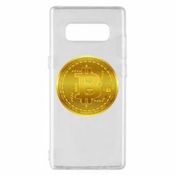 Чохол для Samsung Note 8 Bitcoin coin
