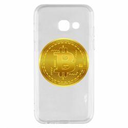 Чохол для Samsung A3 2017 Bitcoin coin