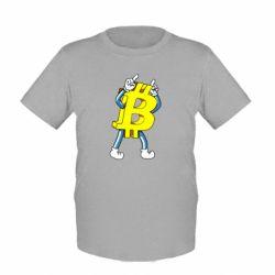Детская футболка Bitcoin contrast
