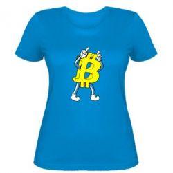 Женская футболка Bitcoin contrast