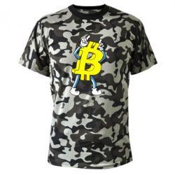Камуфляжная футболка Bitcoin contrast