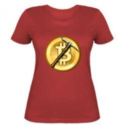 Жіноча футболка Bitcoin Hammer