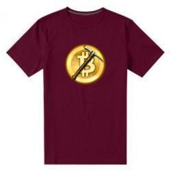 Чоловіча стрейчева футболка Bitcoin Hammer