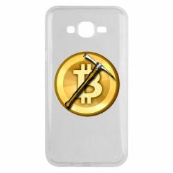 Чохол для Samsung J7 2015 Bitcoin Hammer