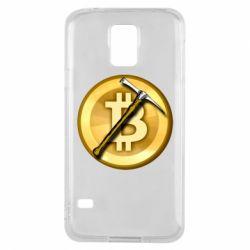 Чохол для Samsung S5 Bitcoin Hammer