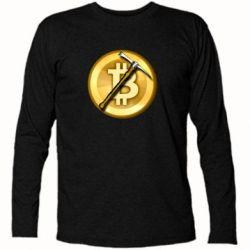 Футболка з довгим рукавом Bitcoin Hammer