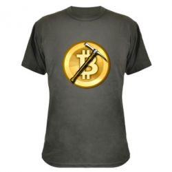 Камуфляжна футболка Bitcoin Hammer