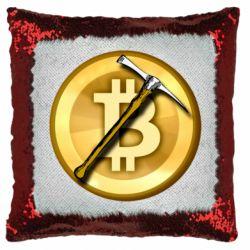 Подушка-хамелеон Bitcoin Hammer