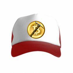 Дитяча кепка-тракер Bitcoin Hammer
