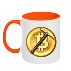 Кружка двоколірна 320ml Bitcoin Hammer