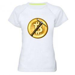 Жіноча спортивна футболка Bitcoin Hammer