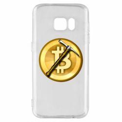 Чохол для Samsung S7 Bitcoin Hammer