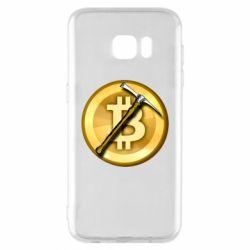 Чохол для Samsung S7 EDGE Bitcoin Hammer