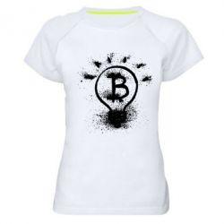 Женская спортивная футболка Bitcoin idea