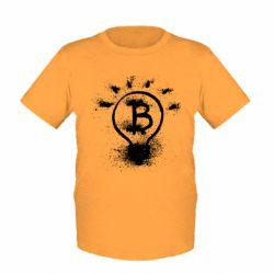 Детская футболка Bitcoin idea