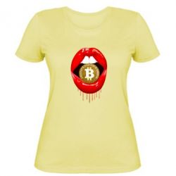 Женская футболка Bitcoin in the teeth