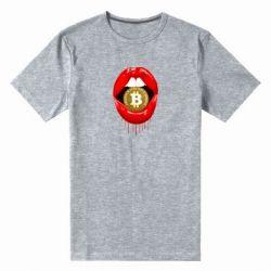 Чоловіча стрейчева футболка Bitcoin in the teeth