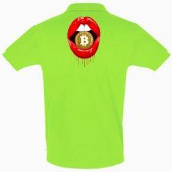 Футболка Поло Bitcoin in the teeth