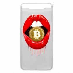Чохол для Samsung A80 Bitcoin in the teeth
