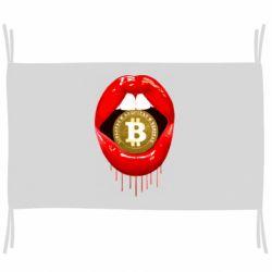 Прапор Bitcoin in the teeth