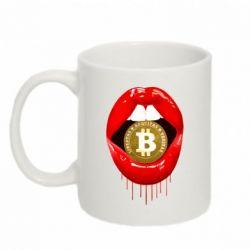 Кружка 320ml Bitcoin in the teeth