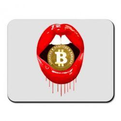 Килимок для миші Bitcoin in the teeth